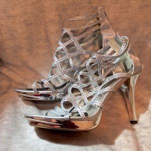 Verona Heels in Silver (Used)